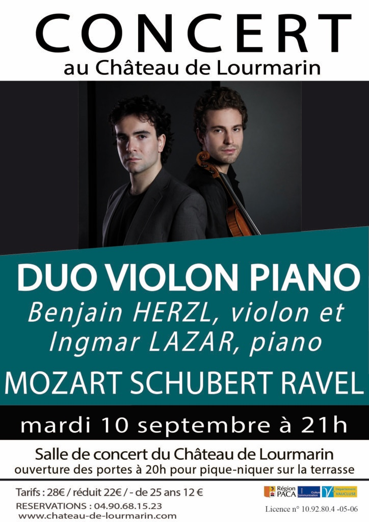 Duo violon piano - Lourmarin